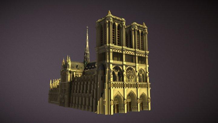 Notre dame de Paris (Minecraft) 3D Model