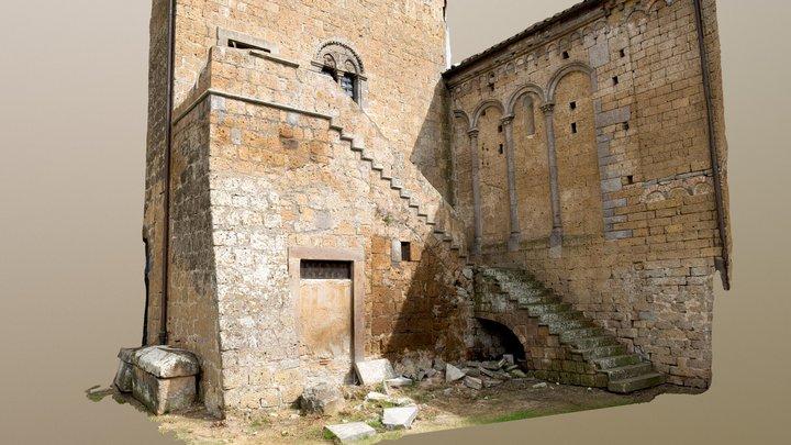 Chiesa San Pietro - Backside  (Tuscania) RAWscan 3D Model