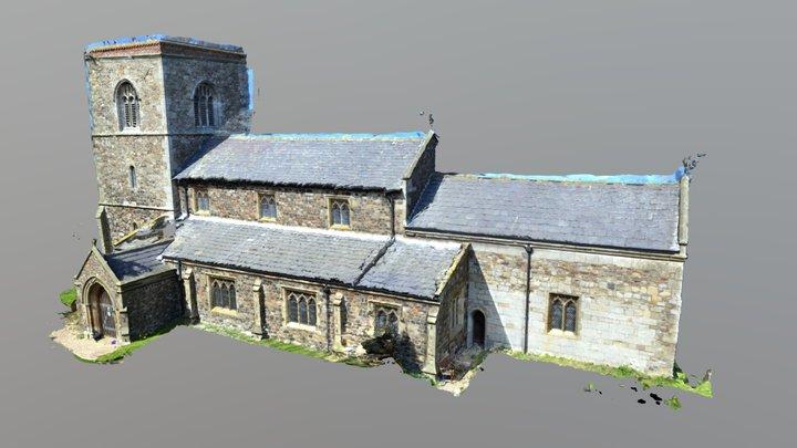 St Bart - Aldbrough - North Elevation 3D Model
