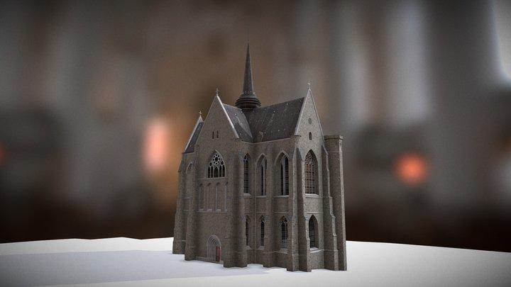 Abbaye gothique du Mont-Saint-Eloi 3D Model