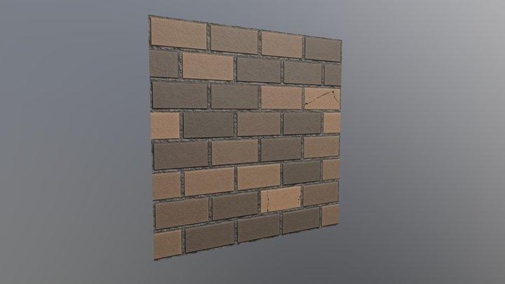 Brown Brick Wall Texture 3D Model