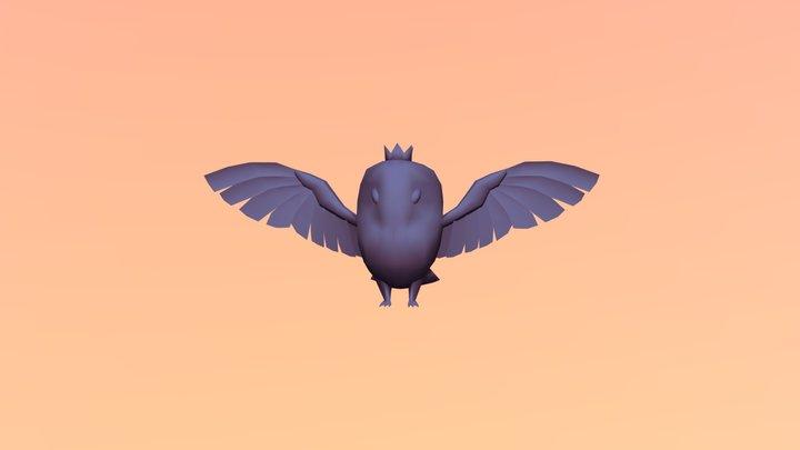 Cartoon Owl Queen WIP 3D Model