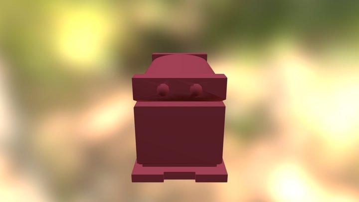 Red Granite Sarcophagus Copy 3D Model