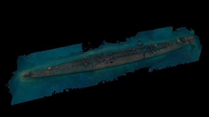 USS Tarpon (SS-175) 3D Model