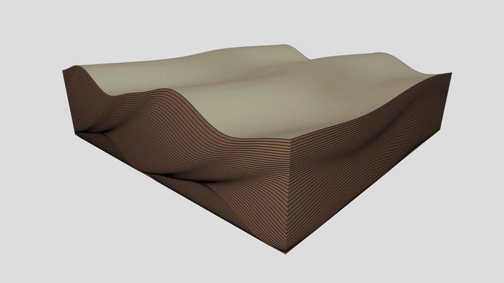 Climbing ripples 3D Model