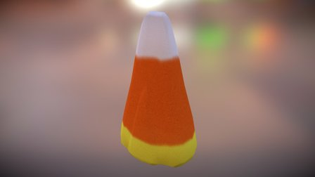 Candy Corn   Maya 3D Model