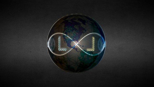 Liqiud Light Sphere 3D Model