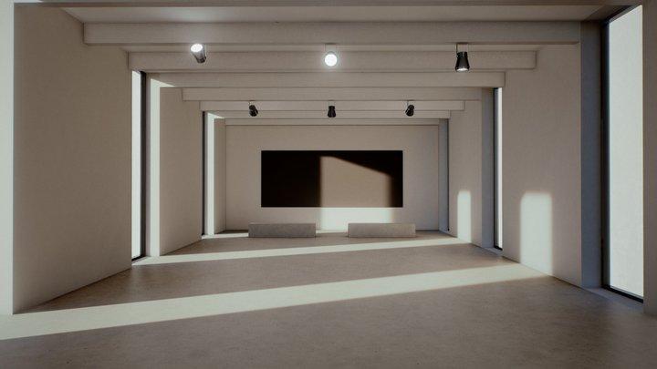 Moody Lighting Art Gallery 2019 3D Model