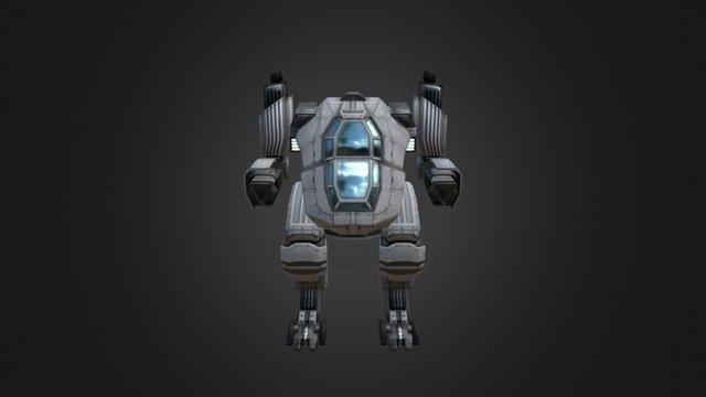 Tank Mech - Battle Frontier 3D Model
