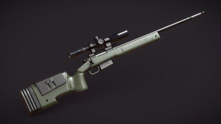 USMC M40A5 Sniper 3D Model