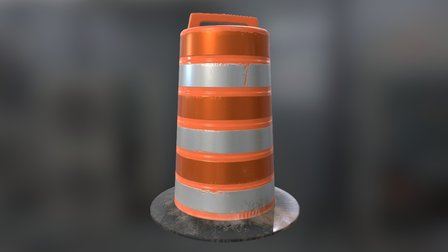 Road_Barrel_for_Garage_Project 3D Model