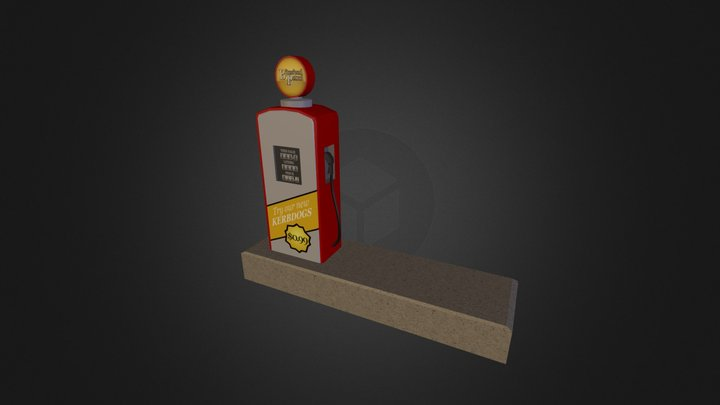Bitesized Petrol Fuel Pump 3D Model