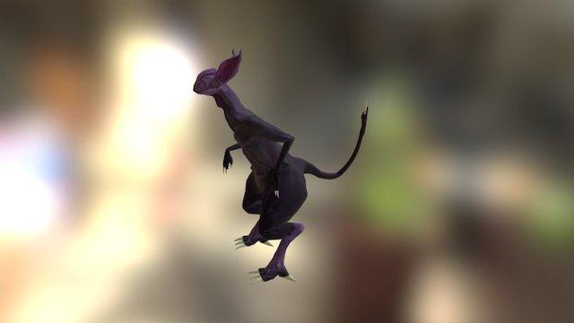 Folder 2A - Alien Creature Pose 1 3D Model