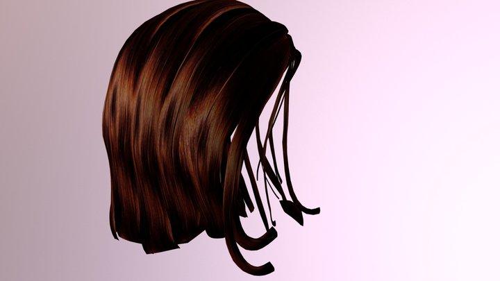 3D Female Hair Mesh 3D Model
