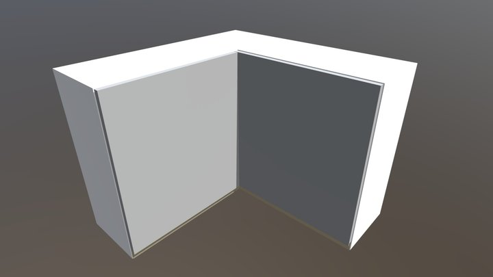 925mm-fingerpull-corner-wall-unit 3D Model