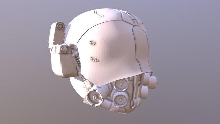 CyberPunk 2077 - Med Team Helmet, White 3D Model