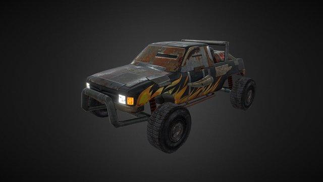 Post apocalyptic car 3D Model