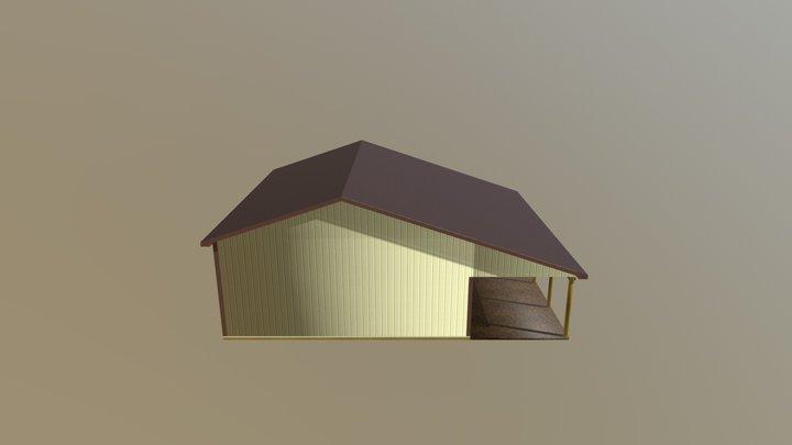 Pole Barn - 30 x 36 x 12 x 4:12 - $12827 3D Model