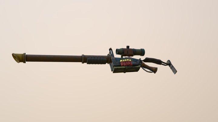 Modular Post Apocalyptic Shotgun [ Animated ] 3D Model