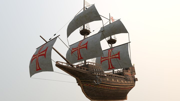 Galleon (Low Poly) 3D Model