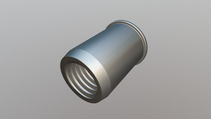 Rivet Nut - Reduced Head, Open End 3D Model