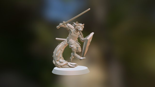 Custom kitsune miniature 3D Model