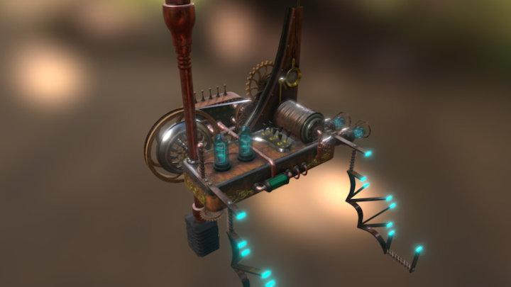 Steampunk Machine 3D Model