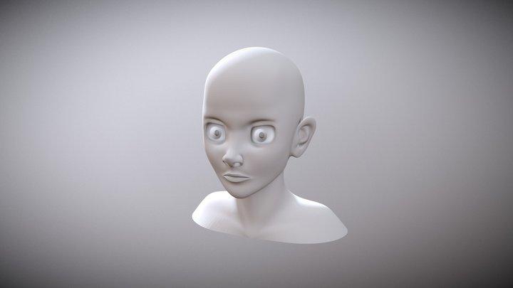 CGCookie Cartoon Head Exercise 3D Model