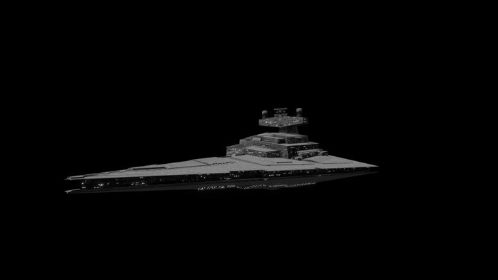 Low Poly: Imperial I Class Star Destroyer 3D Model