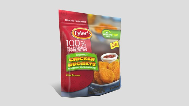 Chicken Nuggets 3D Model
