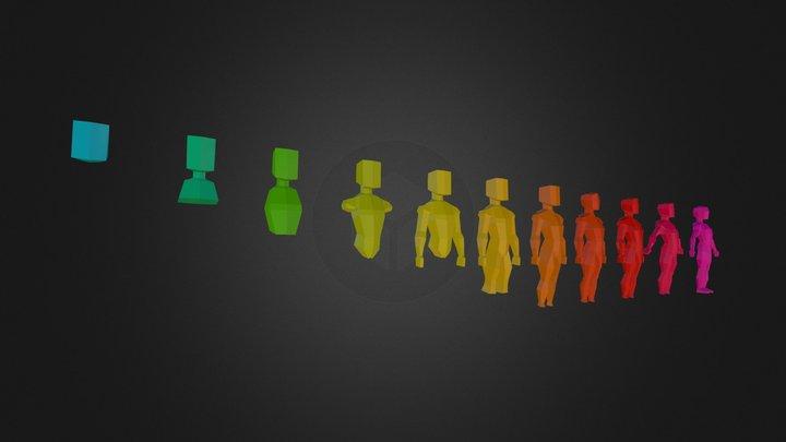 Teknos - Ex. Lowpoly Body Basemesh 3D Model