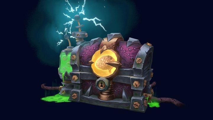 Mad Scientist Treasure Chest 3D Model