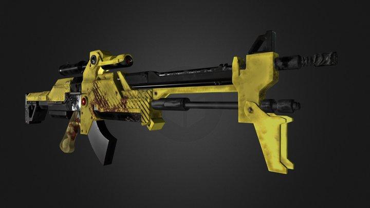 Sniper Rifle 3D Model
