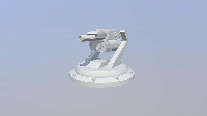 Stationary Turret 3D Model
