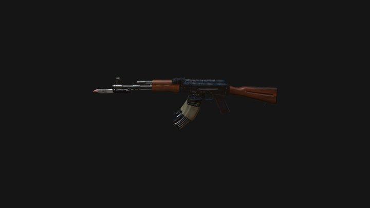 Ak47 Knife 3D Model