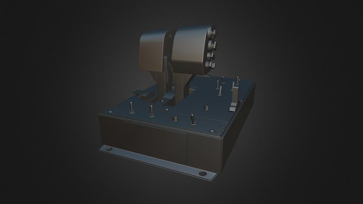 Thrustmaster Warthog Flight Thruster - High Res 3D Model