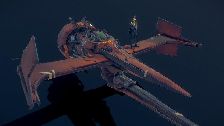Neon Slums X Cowboy Bebop - Swordfish Mk. III 3D Model