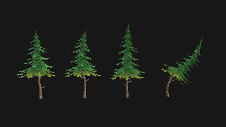 Spruce - Game Asset 3D Model