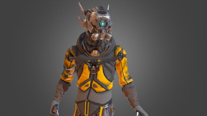 Rewind Cyborg 3D Model