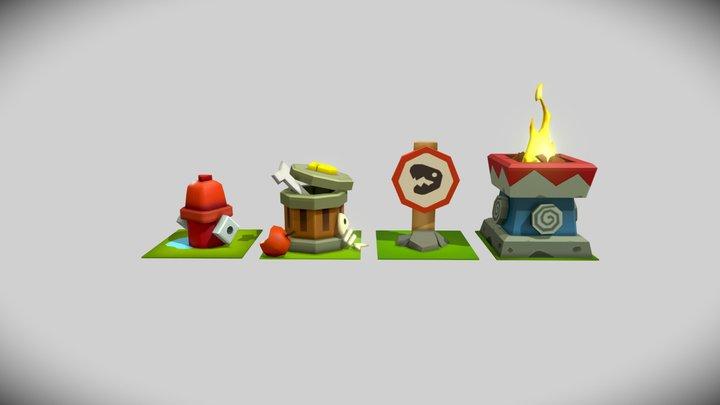 Mobile Game Props 3D Model