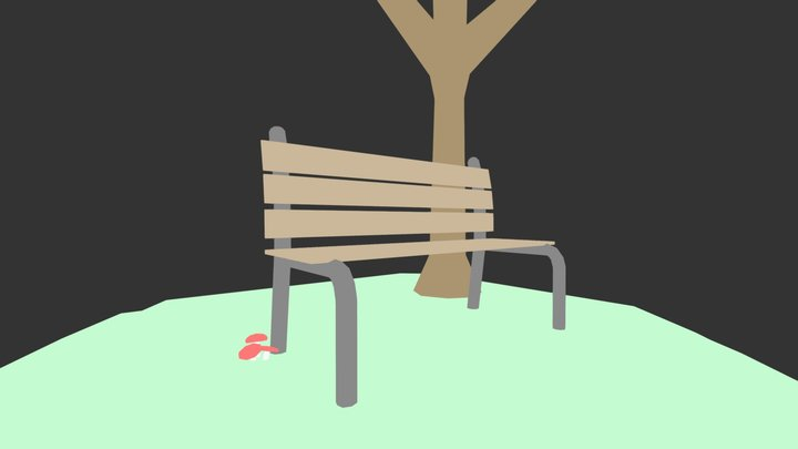 Park On A Hill 3D Model