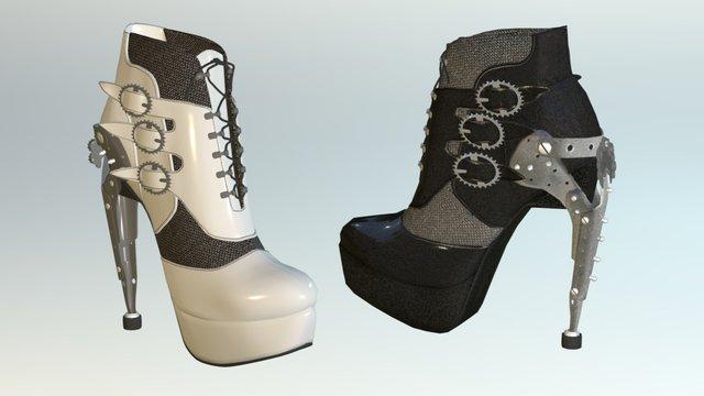 Steampunk Shoe 3D Model