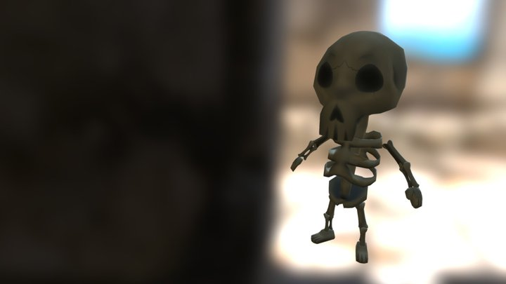 Skeleton Dude 3D Model