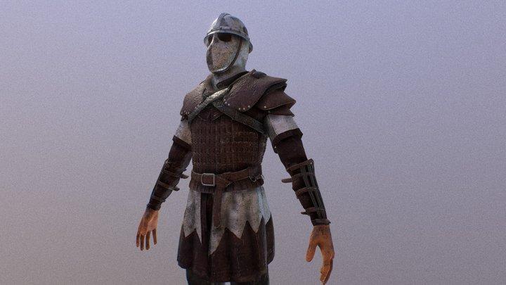 Medieval Guard 3D Model