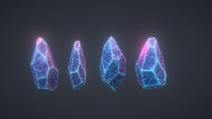 Handpaint study Crystal 3D Model