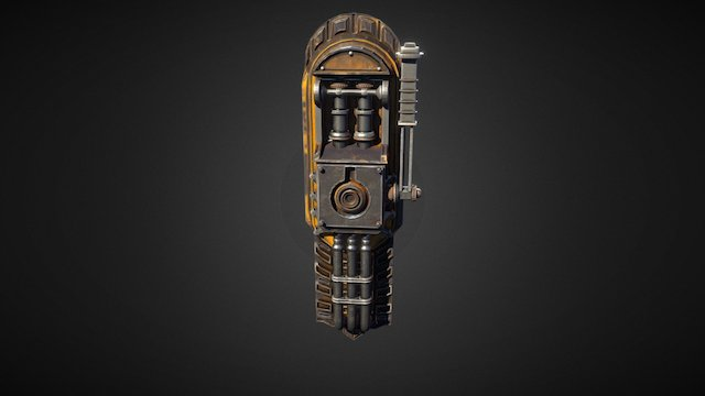 Mechanical Steampunk Metal Lever 3D Model