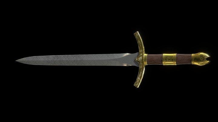 Old Dagger 3D Model