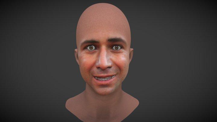 Andre Agassi -  Facesoft Reproduced 3d Model 3D Model