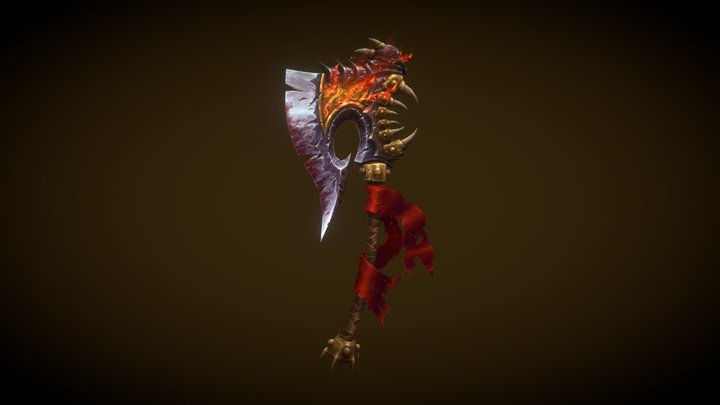 Gorehowl - Lowpoly Handpainted Weapon 3D Model