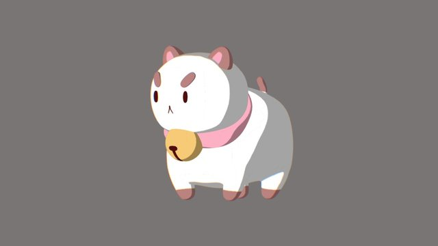 Puppycat 3D Model